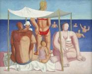 Hans Ticha: Gruppe mit Sonnensegel