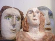Christina Renker: Kopf mit grünen Augen