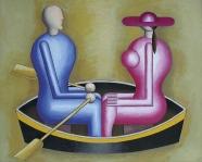 Boot I (blaue und rosa Figur)