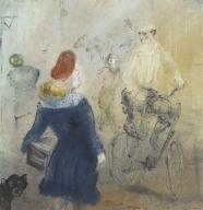 Frau und Radfahrer