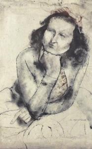 verso: Bildnis Johanna Hegenbarth