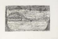 Gerhard Altenbourg: die Strophen der Nacht, die bewegten Wasser treffen den Uferrand.