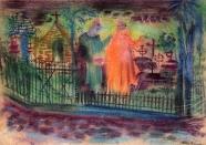 Faust auf dem Friedhof