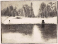 Herta Günther: Winter am Fluss