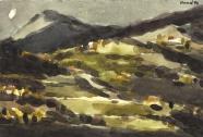 Hans-Peter Hund: Landschaft (Toskana)