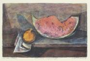 Klaus Drechsler: Melonenscheibe und Granatapfel