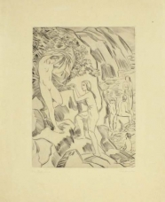 Ludwig von Hofmann: Badende Knaben und Mädchen an der Quelle